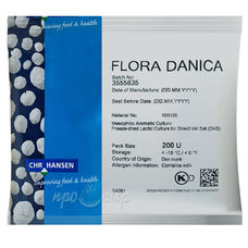 Закваска мезофильная Hansen Flora Danica (200U) на 2 тонны